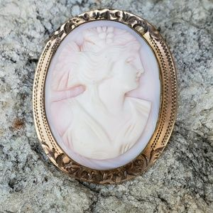 Vintage carved coral cameo